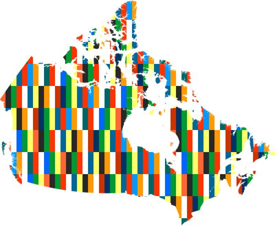 Map of Canada with Open Government Partnership colors